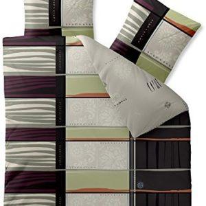 Kuschelige Bettwäsche aus Baumwolle - schwarz weiß 200x220 von CelinaTex