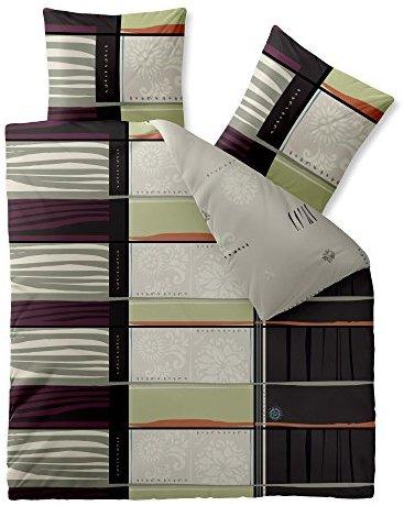 kuschelige bettw sche aus baumwolle schwarz wei 200x220. Black Bedroom Furniture Sets. Home Design Ideas