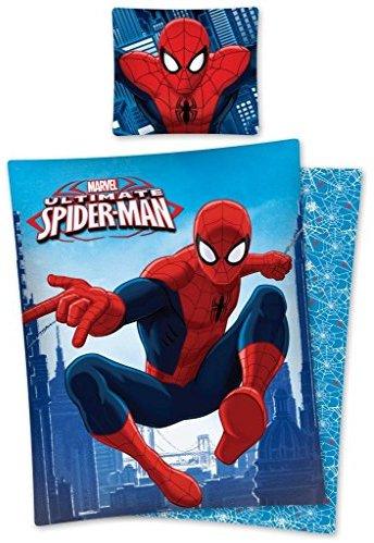 Hübsche Bettwäsche aus Baumwolle - Spiderman 140x200 von Marvel