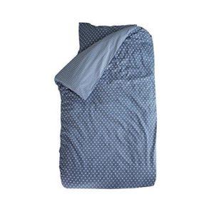 Traumhafte Bettwäsche aus Baumwolle - Sterne blau 135x200