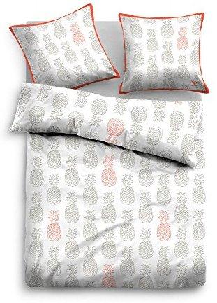 Kuschelige Bettwäsche aus Baumwolle - weiß 155x220 von TOM TAILOR