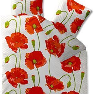 Kuschelige Bettwäsche aus Baumwolle - weiß 200x220 von CelinaTex