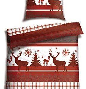 Traumhafte Bettwäsche aus Biber - 135x200 von Schiesser