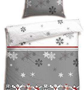 Schöne Bettwäsche aus Biber - 155x220 von Schiesser