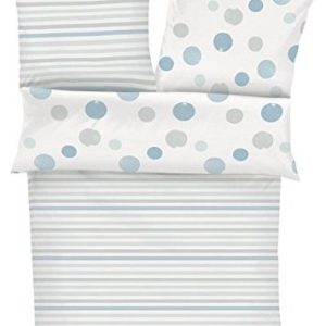 Traumhafte Bettwäsche aus Biber - blau 100x135 von s.Oliver