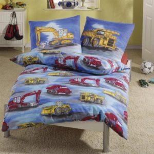 Hübsche Bettwäsche aus Biber - blau 135x200 von Anaterra