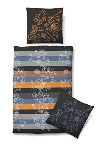 kuschelige bettw sche aus biber blau 135x200 von biberna. Black Bedroom Furniture Sets. Home Design Ideas