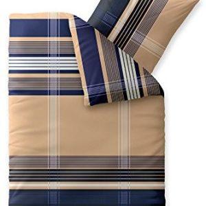 Kuschelige Bettwäsche aus Biber - blau 135x200 von CelinaTex