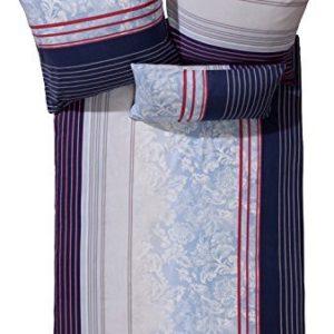 Kuschelige Bettwäsche aus Biber - blau 135x200 von Erwin Müller
