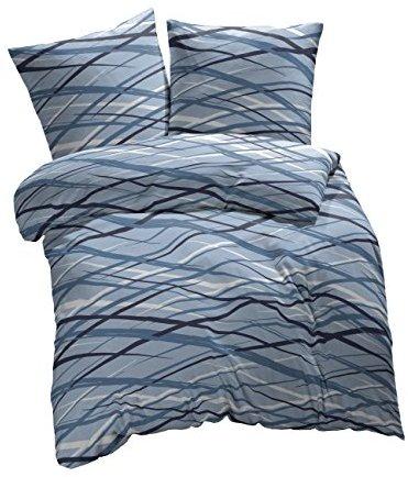 kuschelige bettw sche aus biber blau 135x200 von et rea bettw sche. Black Bedroom Furniture Sets. Home Design Ideas