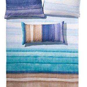 Traumhafte Bettwäsche aus Biber - blau 135x200 von fleuresse