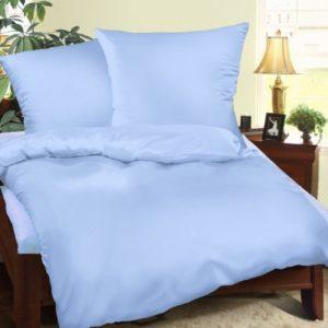 Schöne Bettwäsche aus Biber - blau 135x200 von Genieße den Schlaf