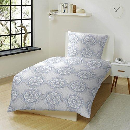 h bsche bettw sche aus biber blau 135x200 von hahn. Black Bedroom Furniture Sets. Home Design Ideas