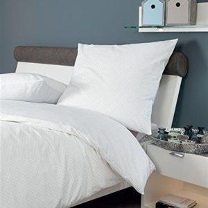 Traumhafte Bettwäsche aus Biber - blau 135x200 von Janine