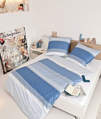 traumhafte bettw sche aus biber blau 135x200 von janine bettw sche. Black Bedroom Furniture Sets. Home Design Ideas