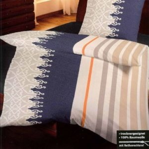 Schöne Bettwäsche aus Biber - blau 135x200 von Primera