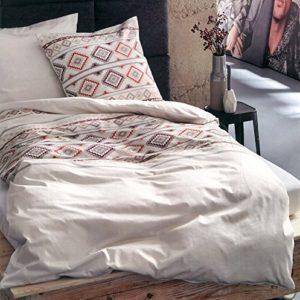 Kuschelige Bettwäsche aus Biber - blau 135x200 von s.Oliver
