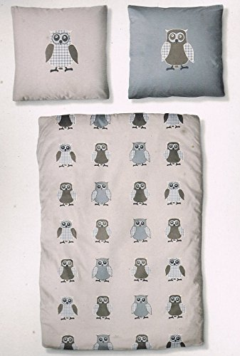 Schöne Bettwäsche aus Biber - blau 135x200