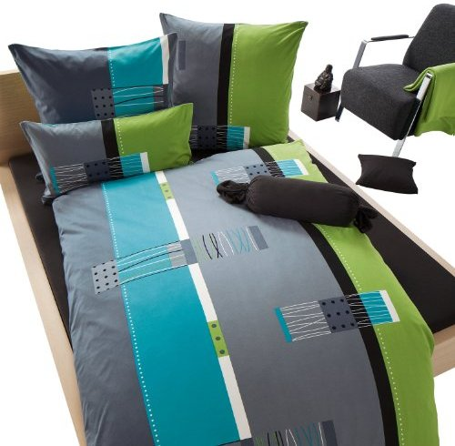 traumhafte bettw sche aus biber blau 155x200 von erwin. Black Bedroom Furniture Sets. Home Design Ideas