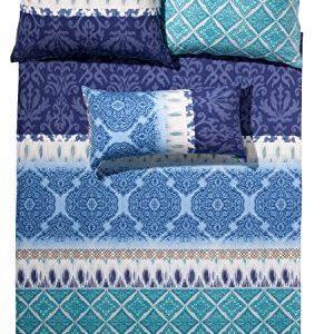 Schöne Bettwäsche aus Biber - blau 155x200 von fleuresse