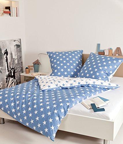 kuschelige bettw sche aus biber blau 155x200 von janine bettw sche. Black Bedroom Furniture Sets. Home Design Ideas