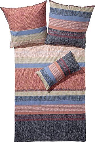 kuschelige bettw sche aus biber blau 155x220 von biberna. Black Bedroom Furniture Sets. Home Design Ideas