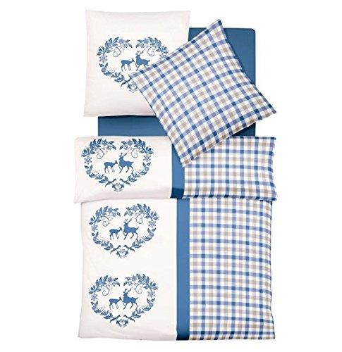 traumhafte bettw sche aus biber blau 155x220 von. Black Bedroom Furniture Sets. Home Design Ideas