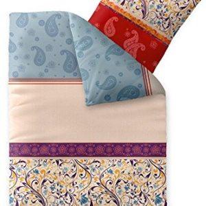 Schöne Bettwäsche aus Biber - blau 155x220 von CelinaTex
