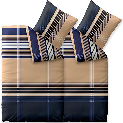 kuschelige bettw sche aus biber blau 155x220 von. Black Bedroom Furniture Sets. Home Design Ideas