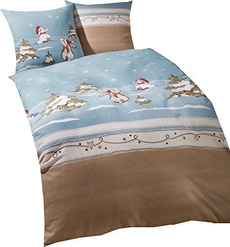 kuschelige bettw sche aus biber blau 155x220 von kaeppel bettw sche. Black Bedroom Furniture Sets. Home Design Ideas