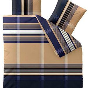 Traumhafte Bettwäsche aus Biber - blau 200x220 von CelinaTex