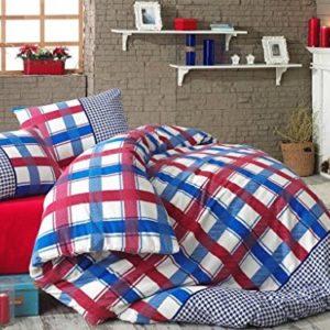 Schöne Bettwäsche aus Biber - blau 200x220 von My Palace