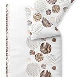 Schöne Bettwäsche aus Biber - braun 135x200 von CelinaTex