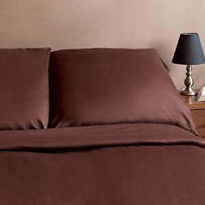 Traumhafte Bettwäsche aus Biber - braun 135x200 von Genieße den Schlaf