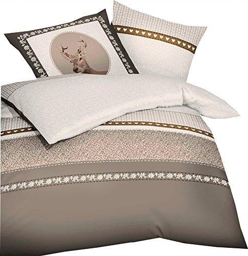 sch ne bettw sche aus biber braun 135x200 von kaeppel. Black Bedroom Furniture Sets. Home Design Ideas