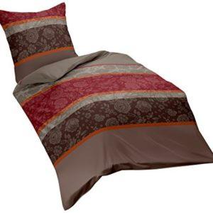 Kuschelige Bettwäsche aus Biber - braun 135x200 von Kaeppel