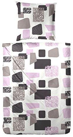 Schöne Bettwäsche aus Biber - braun 135x200 von Primera