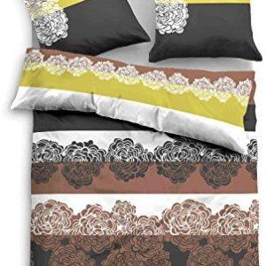 Kuschelige Bettwäsche aus Biber - braun 135x200 von TOM TAILOR