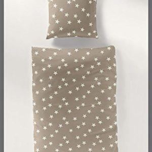 Kuschelige Bettwäsche aus Biber - braun 155x220 von Bierbaum