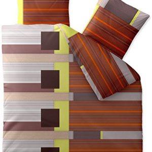 Kuschelige Bettwäsche aus Biber - braun 200x200 von CelinaTex