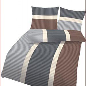 Schöne Bettwäsche aus Biber - braun 200x200 von Ido