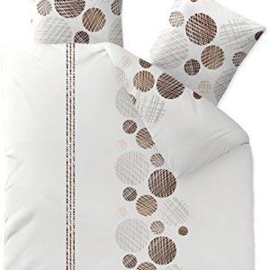 Traumhafte Bettwäsche aus Biber - braun 200x220 von CelinaTex