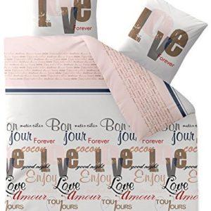 Kuschelige Bettwäsche aus Biber - braun 200x220 von CelinaTex
