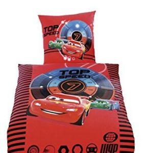 Traumhafte Bettwäsche aus Biber - Disney rot 135x200 von Global Labels