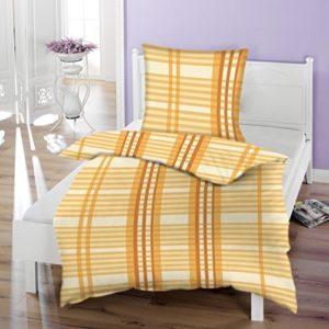 Kuschelige Bettwäsche aus Biber - gelb 135x200 von Beauty Dreams