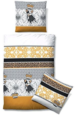 Traumhafte Bettwäsche aus Biber - gelb 135x200 von Castell