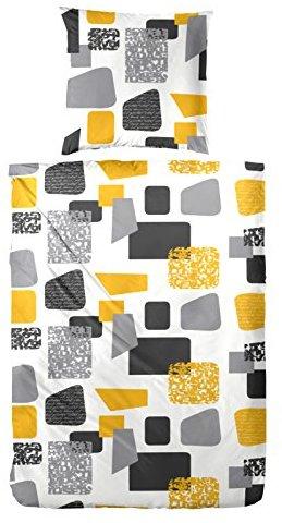 Kuschelige Bettwäsche aus Biber - gelb 135x200 von Primera