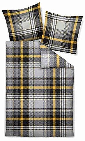 Traumhafte Bettwäsche aus Biber - gelb 155x220 von Biberna