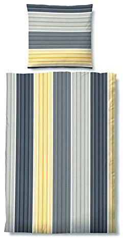 Schöne Bettwäsche aus Biber - gelb 155x220 von Castell