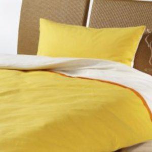 Kuschelige Bettwäsche aus Biber - gelb 155x220 von Cotonea